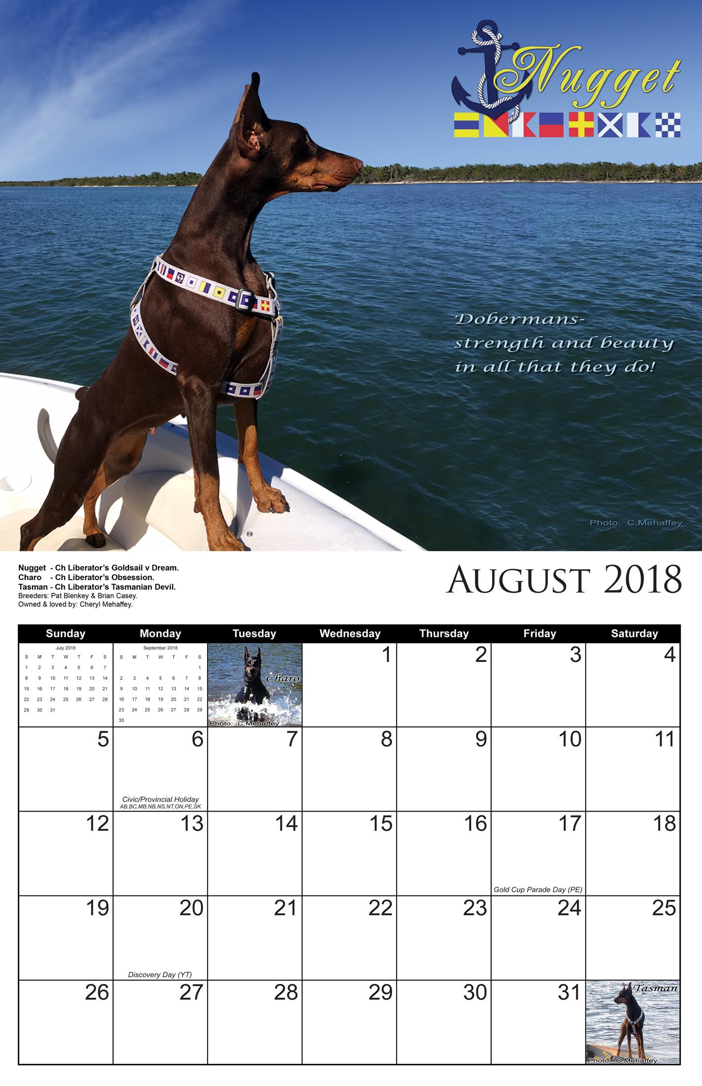 aug calendar 2018